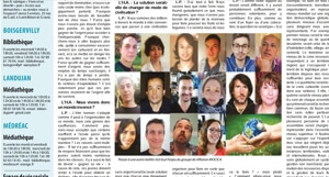 Photo of the mocica team in the journal des cotes d'armor